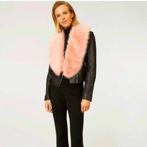Club Monaco Pink Faux Fur Scarf